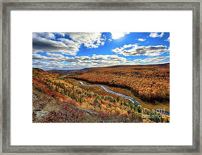 Autumn In The Valley Framed Print by Bryan Benson