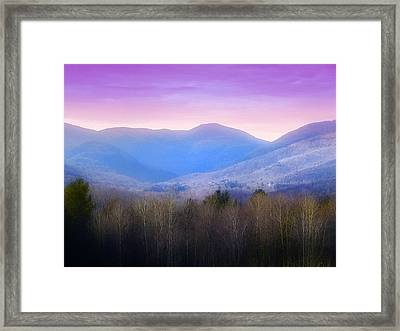 Autumn In Vermont Framed Print by Bill Cannon
