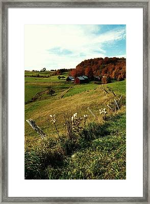 Autumn In Vermont  Framed Print