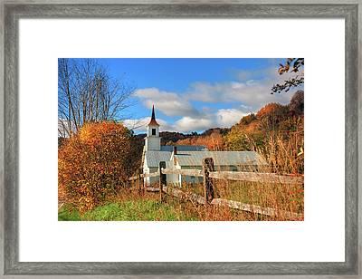 Autumn In Vermont - North Tunbridge  Framed Print by Joann Vitali