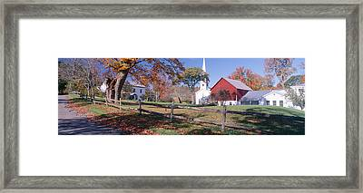 Autumn In Village Of Peacham, Vermont Framed Print by Panoramic Images