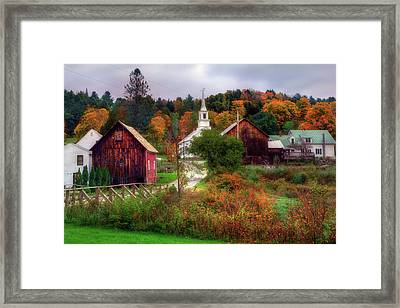 Autumn In Waits River Vermont Framed Print