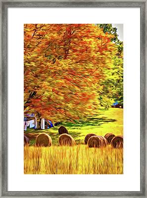 Autumn In West Virginia - Paint Framed Print
