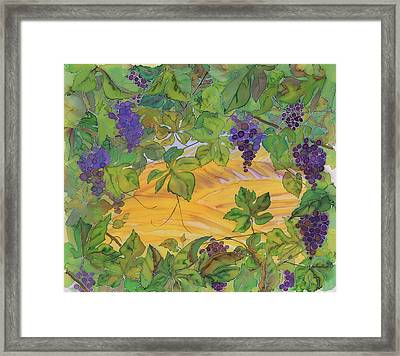 Autumn In Wine Country Framed Print by Carolyn Doe