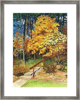 Framed Print featuring the painting Autumn Invitation by Barbara Jewell