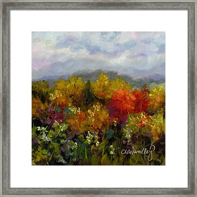Framed Print featuring the painting Autumn Jewels by Chris Brandley
