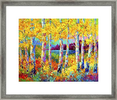 Autumn Jewels Framed Print by Marion Rose