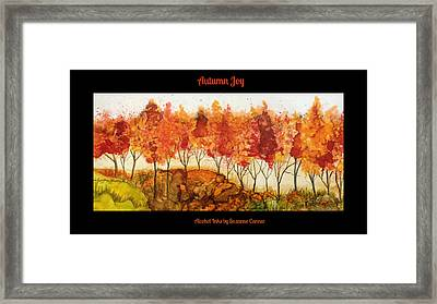Autumn Joy Framed Print by Suzanne Canner