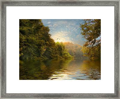 Autumn Kissed Framed Print by Jessica Jenney