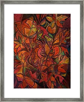 Autumn Kokopelli Framed Print by Anna Duyunova