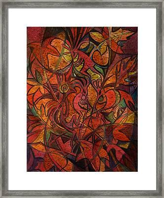 Autumn Kokopelli Framed Print