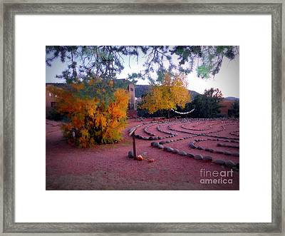 Autumn Labyrinth Framed Print by Marlene Rose Besso
