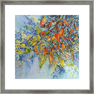 Framed Print featuring the painting Autumn Lace by Joanne Smoley