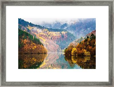 Autumn Lake Framed Print by Evgeni Dinev