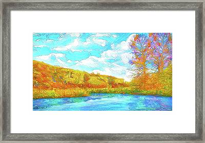 Autumn Lake Reflections - Park In Boulder County Colorado Framed Print