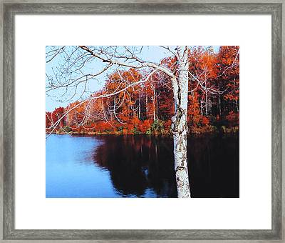 Autumn Lake Framed Print