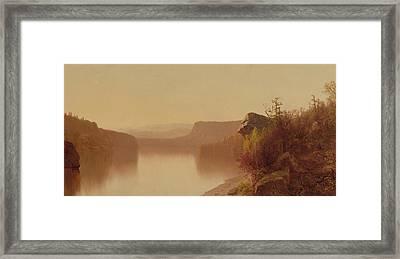 Autumn Lake Scene Framed Print
