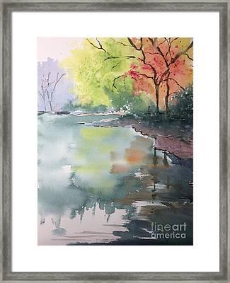 Autumn Lake Framed Print by Yohana Knobloch
