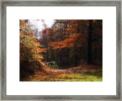 Autumn Landscape Framed Print by Artecco Fine Art Photography