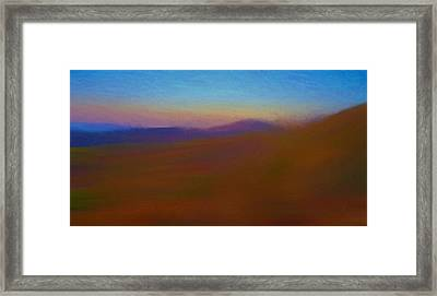 Autumn Landscape At Sunset Framed Print by Dan Sproul