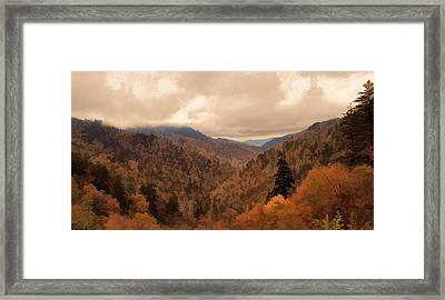 Autumn Landscape In The Smoky Mountains Framed Print
