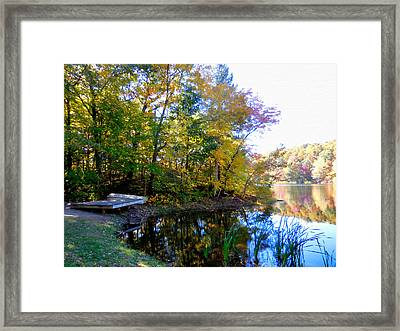 Autumn Landscape Of Lake 10 Framed Print
