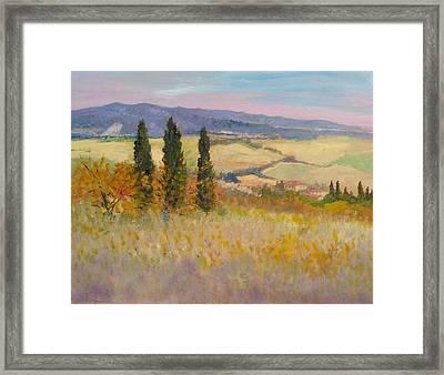 Autumn Landscape - Tuscany Framed Print