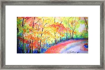 Autumn Lane Iv Framed Print by Lizzy Forrester
