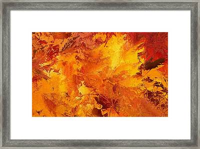 Autumn Leaves Abstract Framed Print by Dan Sproul