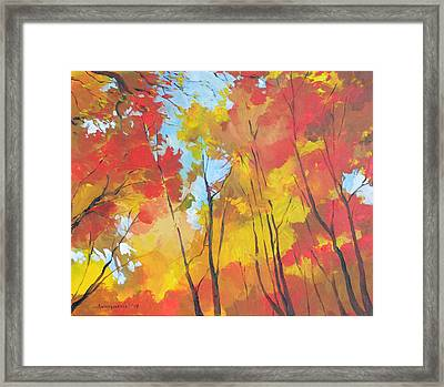 Autumn Leaves Framed Print by Alessandro Andreuccetti