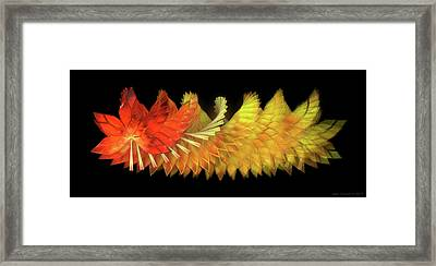 Autumn Leaves - Composition 2.2 Framed Print