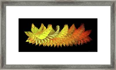 Autumn Leaves - Composition 2.3 Framed Print