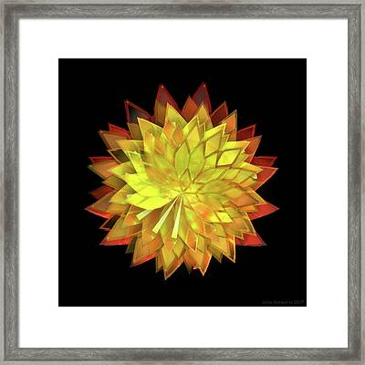 Autumn Leaves - Composition 4 Framed Print