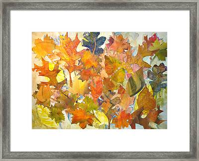 Autumn Leaves Framed Print by Joyce Kanyuk