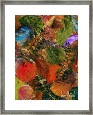 Framed Print featuring the digital art Autumn Leaves by Klara Acel