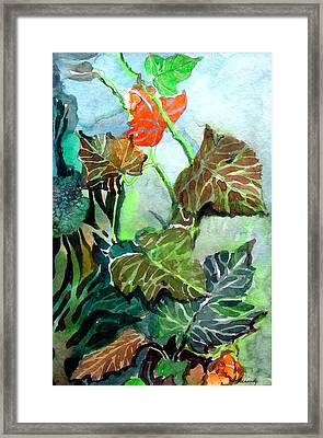 Autumn Leaves Framed Print by Mindy Newman