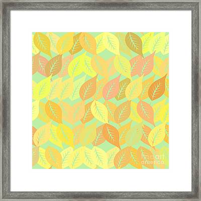 Autumn Leaves Pattern Framed Print