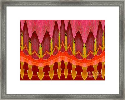 Autumn Leaves Polar Coordinate Abstract Framed Print by Rose Santuci-Sofranko