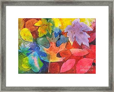 Autumn Leaves Recycled Framed Print