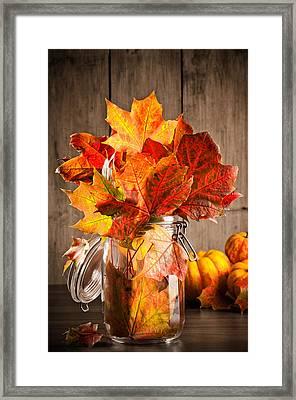 Autumn Leaves Still Life Framed Print by Amanda Elwell