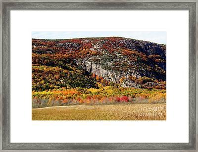 Autumn Ledges Framed Print