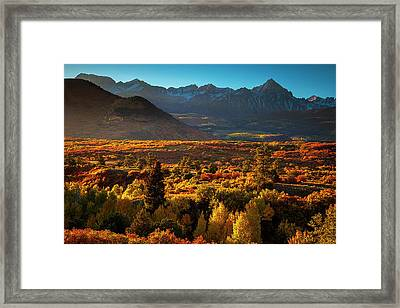 Framed Print featuring the photograph Autumn Light by Andrew Soundarajan