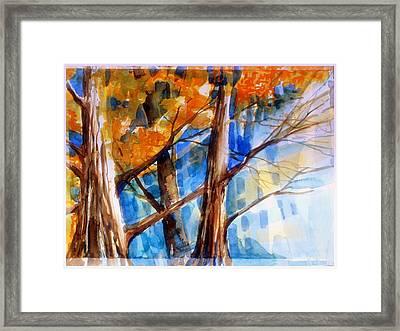 Autumn Light Framed Print by Mindy Newman