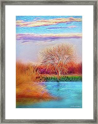 Autumn Light Realization Framed Print