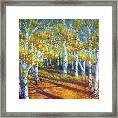Autumn Light Framed Print by Sharon Marcella Marston