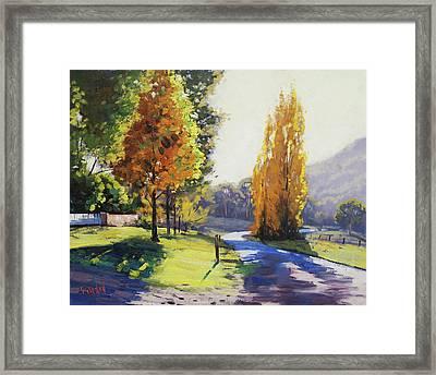 Autumn Light Tarana Framed Print