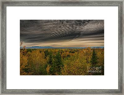 Autumn Lookout Framed Print