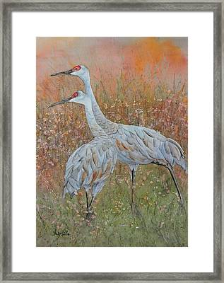 Autumn Meadow Framed Print by Vicky Lilla