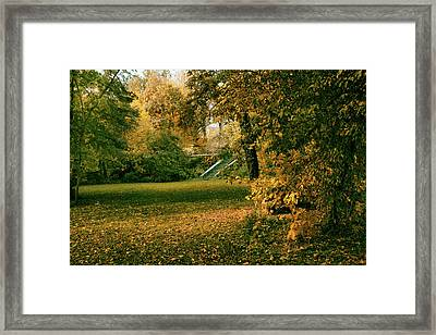 Autumn Meadow Entrance  Framed Print