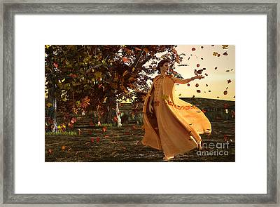 Framed Print featuring the digital art Autumn by Methune Hively